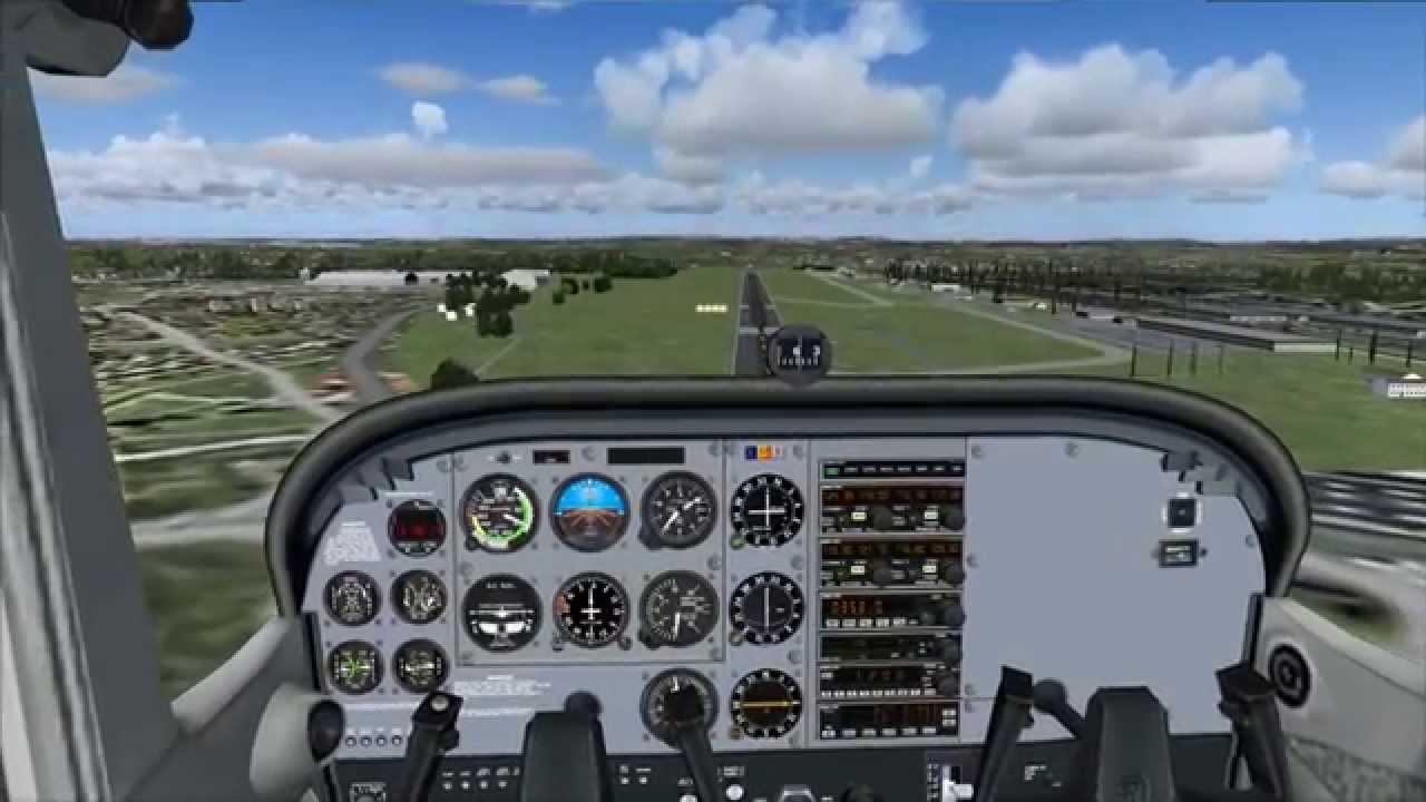 Cessna 172 nin fs9'daki kokpiti